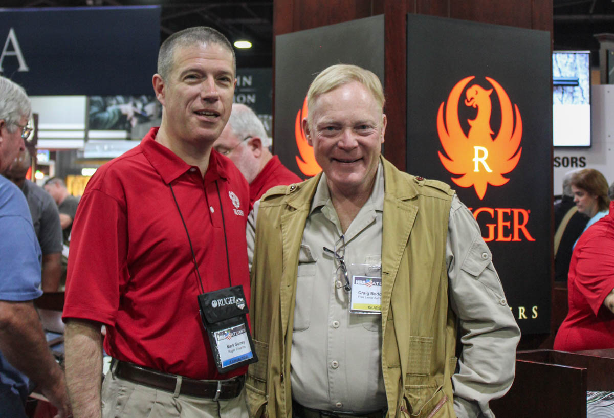 Mark Gurney and the author at the Ruger booth.